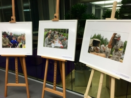 "Photo exhibition ""Taking a Break from Training to Lend a Helping Hand"""