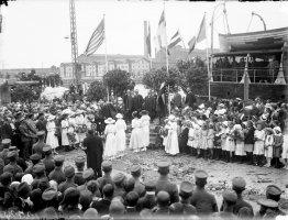 The Latvian Provisional Government returns to Liepāja, 27 June 1919. Image – Latvian War Museum