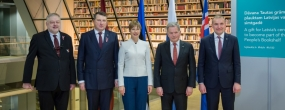 From the right: President of Iceland Guðni Th. Jóhannesson, President of Finland Sauli Niinistö, President of Estonia Kersti Kaljulaid, President of Latvia Raimonds Vējonis, NLL director Andris Vilks