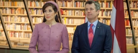 From the left: Crown Princess Mary, Crown Prince Frederik